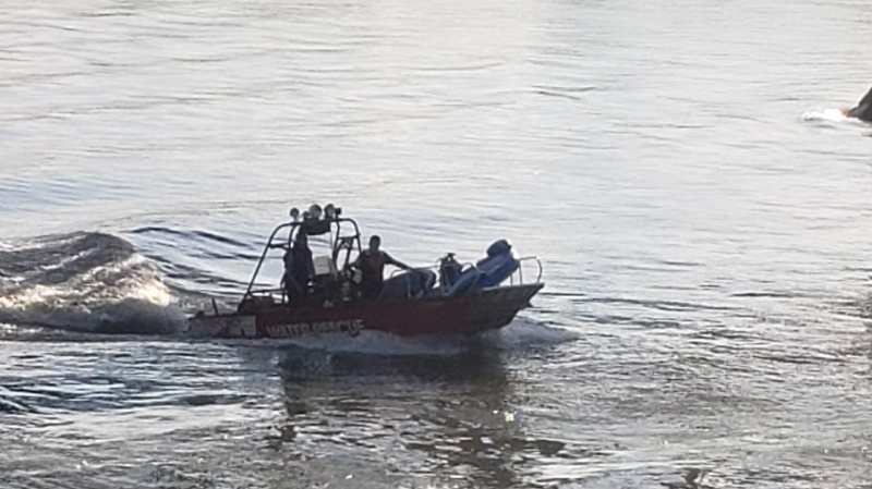 Saskatoon firefighters rescued four people from the water on July 5. (Saskatoon Fire Department)