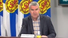 Nova Scotia Premier Stephen McNeil provides an update on COVID-19 during a news conference in Halifax on July 6, 2020.