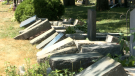 Several headstones at Notre Dame Cemetery were knocked down between Friday, July 3 and Saturday July 4. Ottawa police say one man is facing a mischief charge.