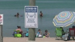 Busy beaches across the region