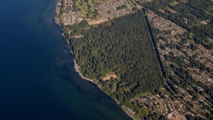 The region that the petition is trying to protect is shown: (Qualicum Nature Preservation Society)