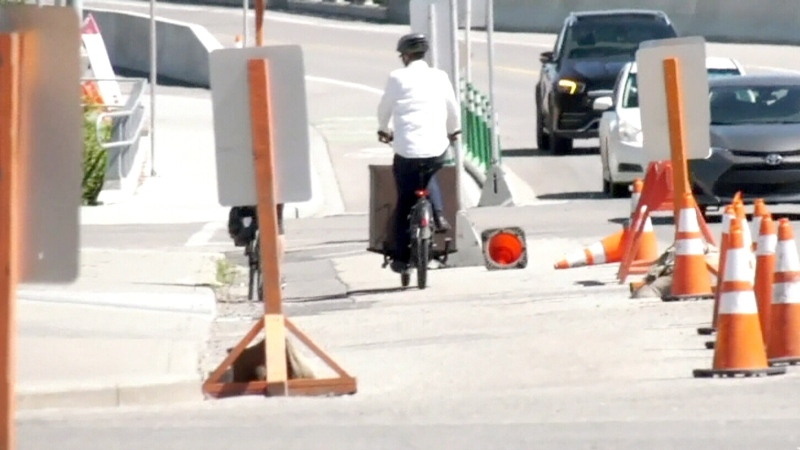 Temporary bike paths not safe, cyclists say