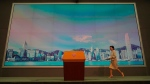 Hong Kong Chief Executive Carrie Lam arrives for a press conference in Hong Kong, Tuesday, July 7, 2020. (AP Photo/Vincent Yu)