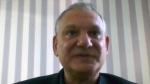 Dr. Ricardo Diaz of the University of Sao Paulo, Brazil, speaks during an interview on July 6, 2020. (Federica Narancio / Zoom via AP)