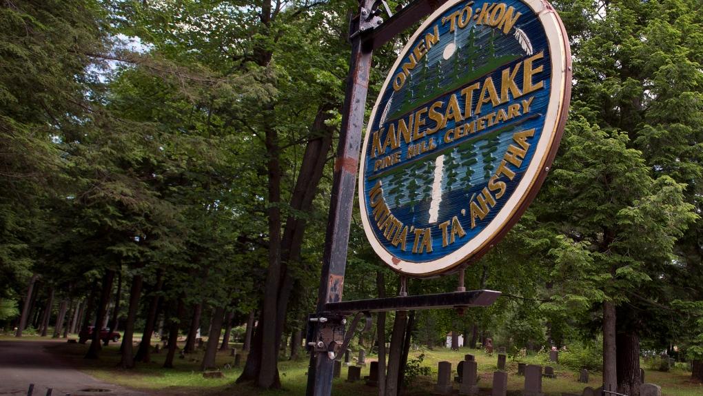 Mohawk cemetery in Kanesatake