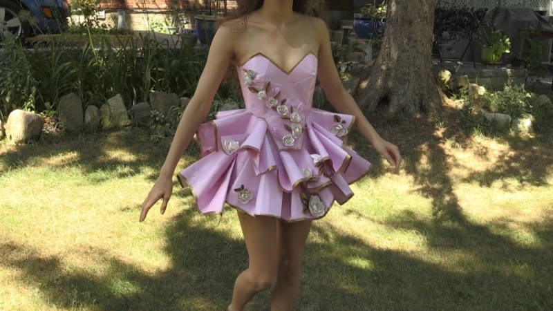 An Ontario teen is in the running to win a scholarship prize for her one of a kind creation: a prom gown made entirely out of duct tape.