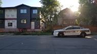 Police on scene in the 400 block of Maryland Street. (Source: Daniel Timmerman/CTV News)