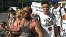 Demonstrators in Toronto refuse to wear masks