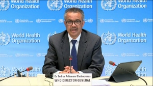 "WHO Director-General Tedros Adhanom Ghebreyesus said Tuesday that the world has ""clearly not reached the peak of the pandemic."""