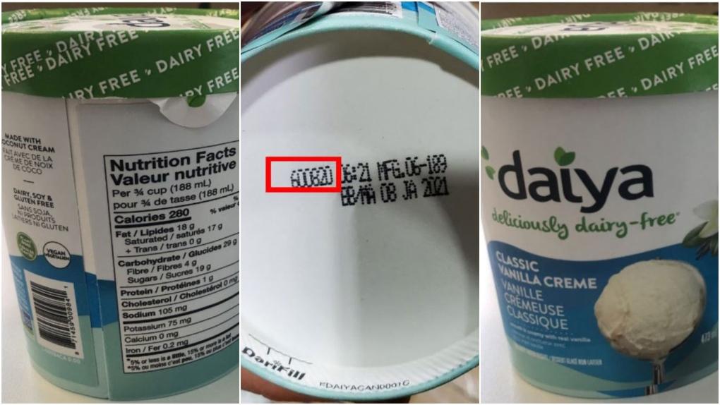 Daiya non-dairy frozen dessert recall