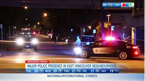 Police presence in East Vancouver