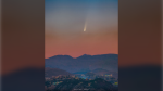"Comet NEOWISE is seen over Lebanon on July 5, 2020.  (Credit: Maroun Habib (Moophz) / NASA's ""Astronomy Picture of the Day"")"