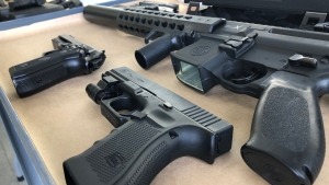 Police in Vancouver say replica gun seizures have increased dramatically since 2018. (VPD handout)