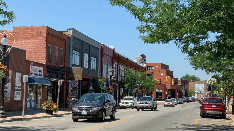 Businesses in Kingsville, Ont., on Tuesday, July 7, 2020. (Chris Campbell / CTV Windsor)