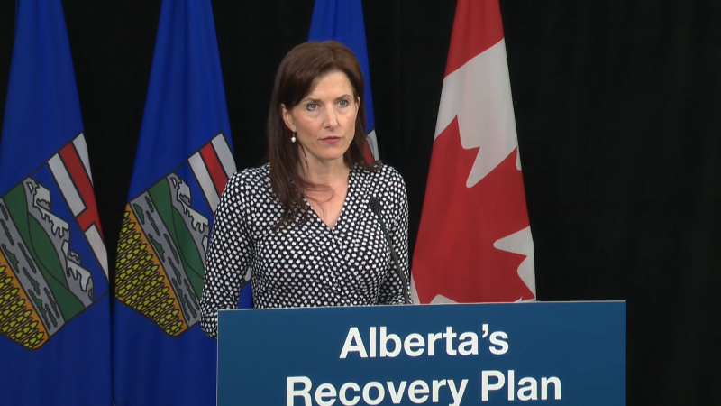 Tanya Fir, Alberta's minister of economic development, trade and tourism, announced a bill that would work to bring in more international investment to the province. July 7, 2020. (CTV News Edmonton)