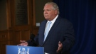 Ontario Premier Doug Ford is seen in this photo during his daily press briefing at Queen's Park. (The Canadian Press)