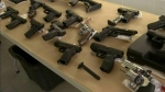 Police show replica guns seized in Vancouver