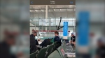 CTVNews.ca obtained this photo of Conservative Leader Andrew Scheer wearing no mask at Toronto Pearson airport on July 7. All travelers and employees inside the terminal have been required to wear a mask or face covering since June 1.