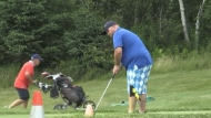 Helping kids with cancer through golf and shaving