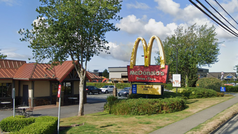 The McDonald's restaurant at 56 Avenue and 180 Street in Surrey, B.C. is seen in this undated Google Maps image.