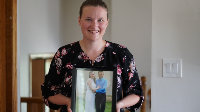 Erinn Beech says with travel restrictions due to COVID-19 and a slow application process, her spousal sponsorship is taking far longer than expected.