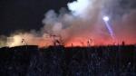 New Tecumseth barn engulfed in flames.