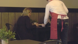 Caroline Thorpe, owner of Jef's Café, said she has been working many shifts on her own because it is all she can afford. Tuesday July 7, 2020 (CTV News Edmonton)