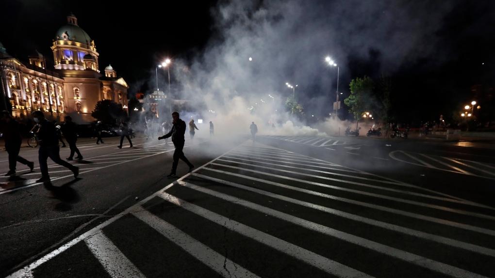 Serbian leader backtracks on virus lockdown after protest