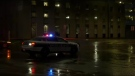 Police on scene on Maryland Street.