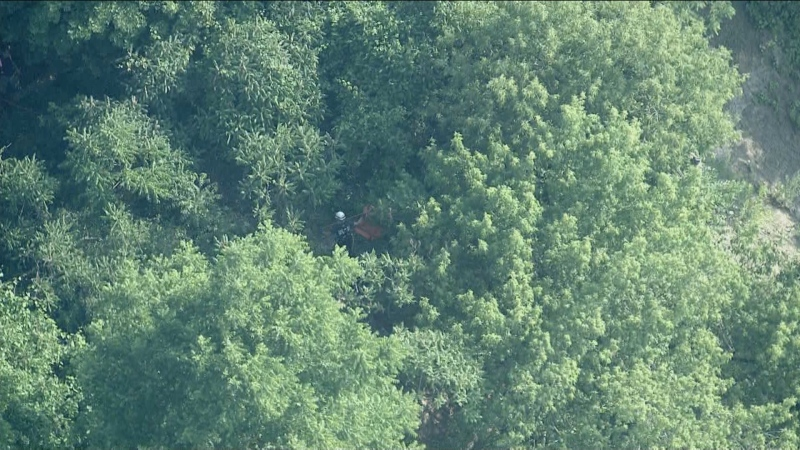 Crews are working to rescue a man who fell at the Scarborough Bluffs on Wednesday morning.