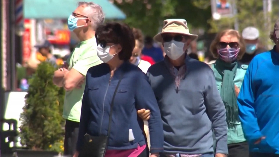 The Town of Okotoks is considering making masks mandatory in all public areas (file)
