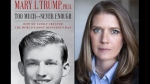 "This combination photo shows the cover art for ""Too Much and Never Enough: How My Family Created the World's Most Dangerous Man"", left, and a portrait of author Mary L. Trump, Ph.D. The book, written by the niece of President Donald J. Trump, was originally set for release on July 28, but will now arrive on July 14. (Simon & Schuster, left, and Peter Serling/Simon & Schuster via AP)"