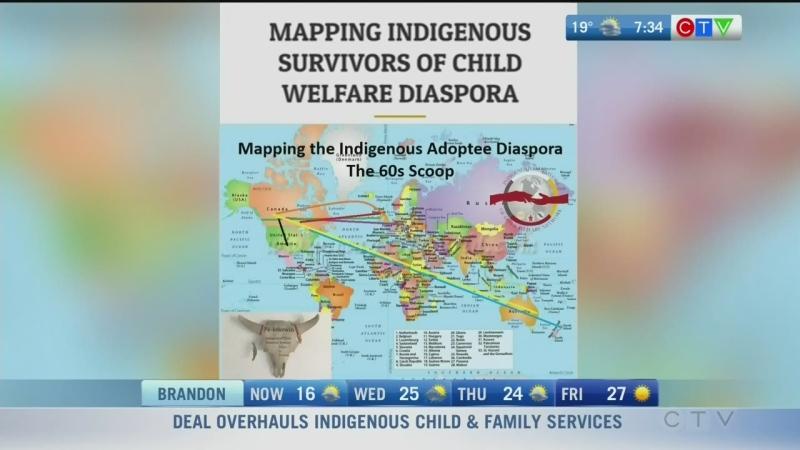 Map charts displacement of Sixties Scoop survivors
