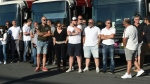 Many bus drivers in Bayonne, France, have refused to work since the vicious attack on a colleague last Sunday. (AFP)