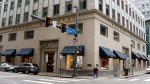This May 6, 2020, file photo shows a Brooks Brothers store in Pittsburgh. (AP Photo/Gene J. Puskar, File)