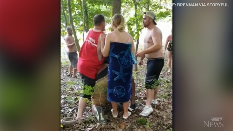 Warning: A Black man says he feared he was about to be lynched when he was allegedly attacked and pinned to a tree in Indiana.