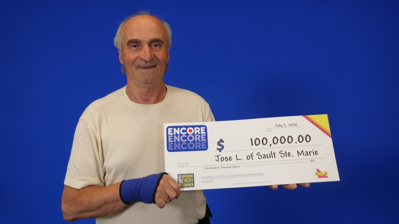 Jose Lima, 69, of Sault Ste. Marie wins $100,000 in lottery. (OLG)