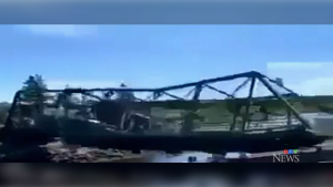 Dramatic video shows bridge collapsing in N.S.