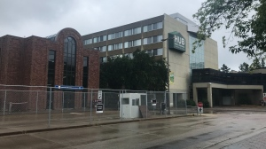 Police investigated a 'suspicious package' at the University LRT Station Wednesday and later confirmed the situation was resolved. July 8, 2020. (CTV News Edmonton)