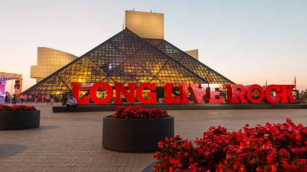 This file photo shows the Rock and Roll Hall of Fame and Museum on August 30, 2017 in Cleveland, Ohio. (Duane Prokop/Getty Images)