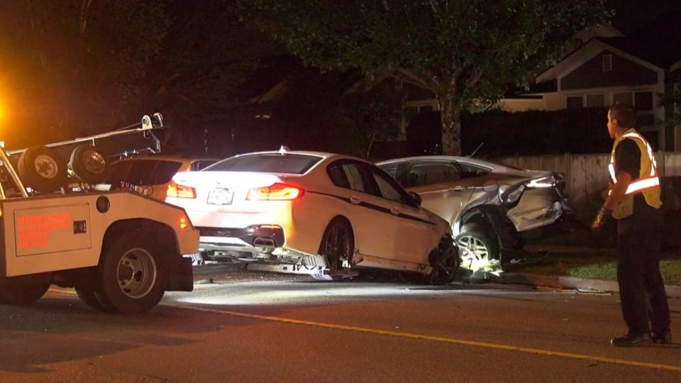 Marine Drive crash