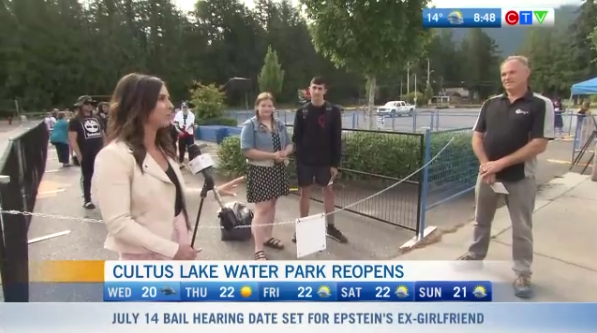 Reduced capacity at Cultus Lake
