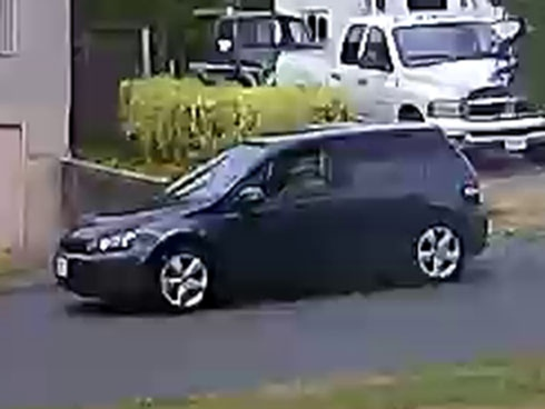 The suspect's vehicle is shown: (Saanich Police)