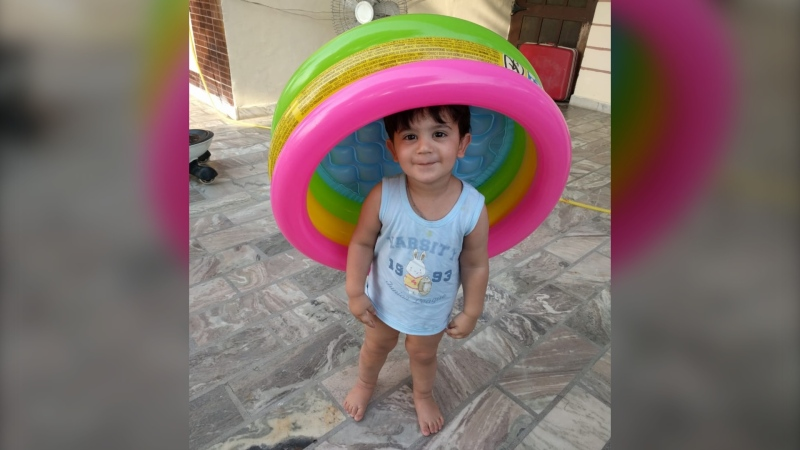 A picture of Ashley Singh's son who is currently stuck in India with his grandparents due to COVID-19 restrictions. (Source: Ashley Singh)