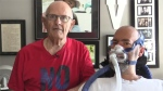 Fred, left, and his son Mario Vella in London, Ont. on Wednesday, July 8, 2020. (Brent Lale / CTV News)