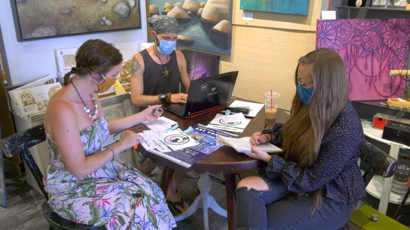 Greater Sudbury's art community isn't letting the COVID-19 pandemic keep them from hosting a local favourite. The Downtown Sudbury Art Crawl is back this summer, but with a few tweaks to ensure social distancing. (Ian Campbell/CTV News)
