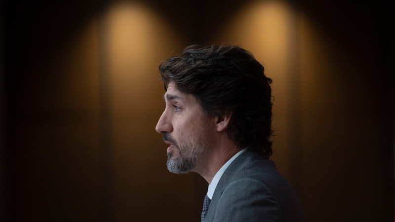 Prime Minister Justin Trudeau speaks during a news conference, Wednesday,July 8, 2020 in Ottawa. THE CANADIAN PRESS/Adrian Wyld