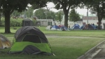 London homeless camp