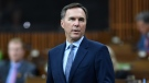 Finance Minister Bill Morneau delivers the government's fiscal snapshot in the House of Commons in Ottawa on Wednesday, July 8, 2020. THE CANADIAN PRESS/Adrian Wyld