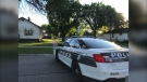 Police on scene at Salter Street and Jefferson Avenue. (Source: Tara Lopez/CTV Winnipeg)